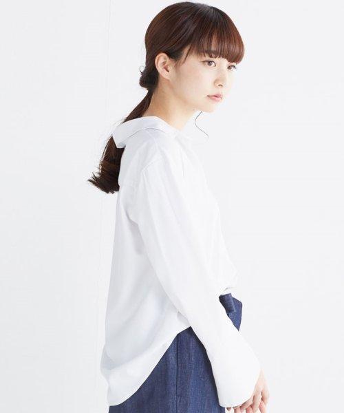 haco!(ハコ)/これ1枚で女っぽさを手に入れる なめらか素材の袖フレアーシャツ/449536_img05