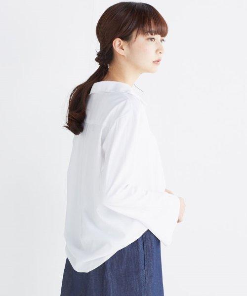 haco!(ハコ)/これ1枚で女っぽさを手に入れる なめらか素材の袖フレアーシャツ/449536_img06