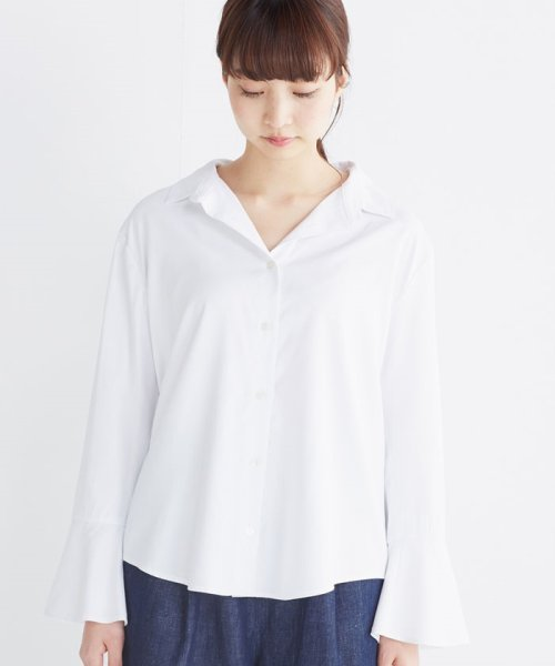haco!(ハコ)/これ1枚で女っぽさを手に入れる なめらか素材の袖フレアーシャツ/449536_img07
