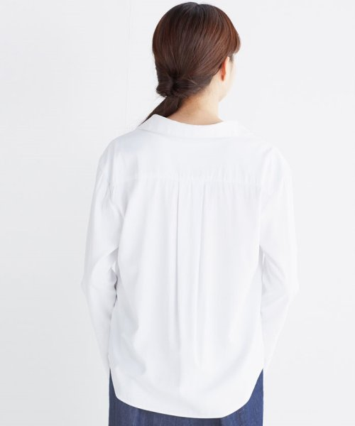haco!(ハコ)/これ1枚で女っぽさを手に入れる なめらか素材の袖フレアーシャツ/449536_img09