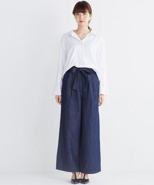 haco!(ハコ)/これ1枚で女っぽさを手に入れる なめらか素材の袖フレアーシャツ/449536_img10