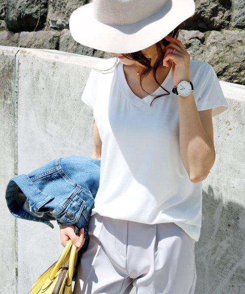and Me...(アンドミー)/【N-9】UVカット クール素材 Vネック 半袖 Tシャツ/2000032_img08