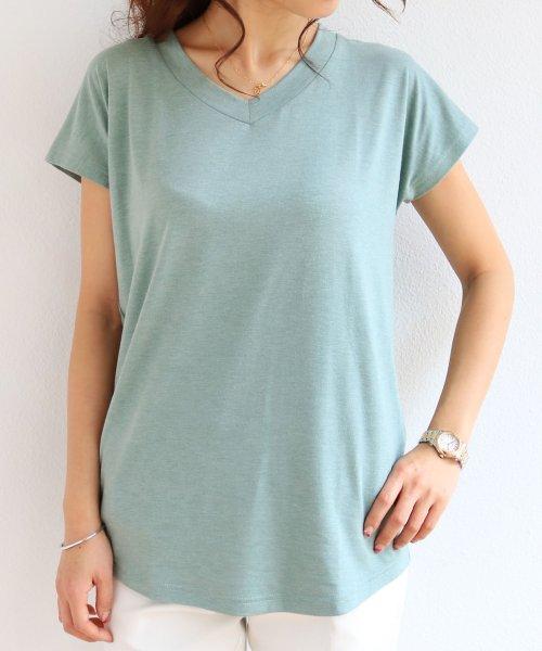 and Me...(アンドミー)/【N-9】UVカット クール素材 Vネック 半袖 Tシャツ/2000032_img09