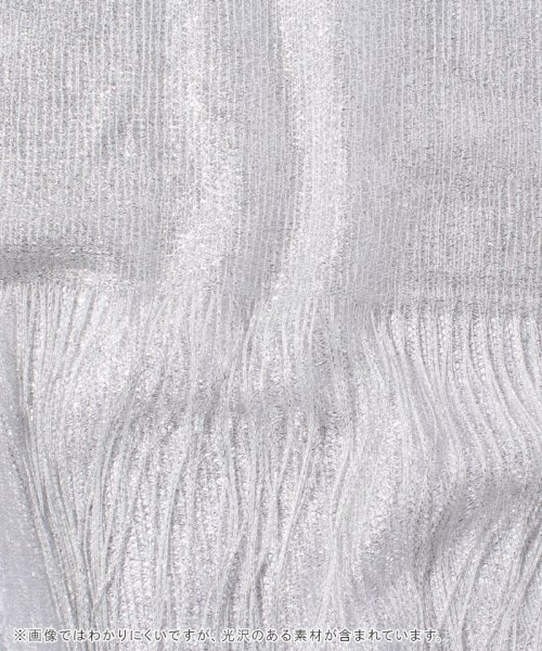 JUSGLITTY(ジャスグリッティー)/【JUSGLITTY Luxe】バラボーダーラメジャガードストール/57389630_img01
