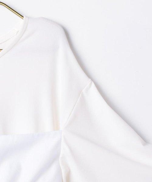 NOLLEY'S sophi(ノーリーズソフィー)/【MM6 Maison Margiela/エムエム 6 メゾン マルジェラ】 ストレッチジャージショートカットソー/70211103001_img03