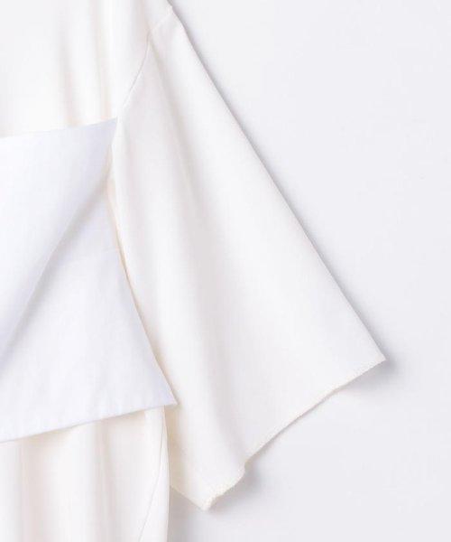 NOLLEY'S sophi(ノーリーズソフィー)/【MM6 Maison Margiela/エムエム 6 メゾン マルジェラ】 ストレッチジャージショートカットソー/70211103001_img04