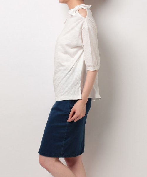 NICE CLAUP OUTLET(ナイスクラップ アウトレット)/【natural couture】肩リボンTシャツ/356610590_img01