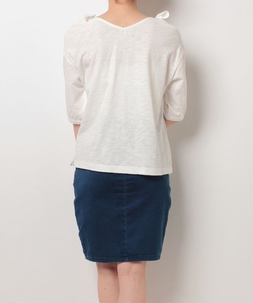 NICE CLAUP OUTLET(ナイスクラップ アウトレット)/【natural couture】肩リボンTシャツ/356610590_img02