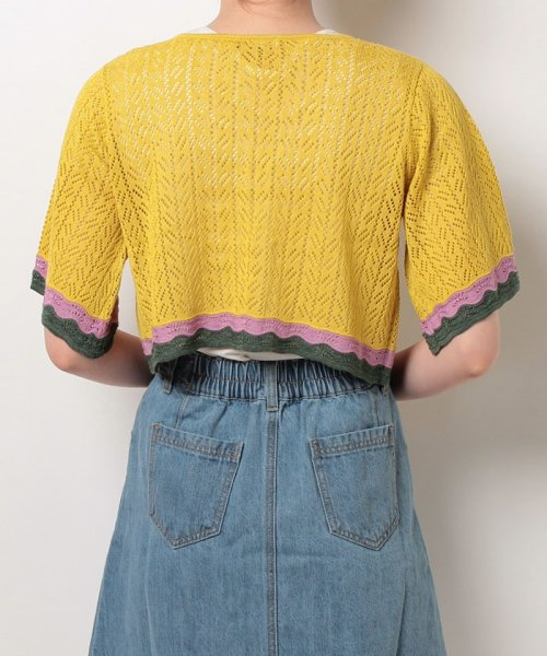 NICE CLAUP OUTLET(ナイスクラップ アウトレット)/【natural couture】配色スカラップボレロ/358830430_img02