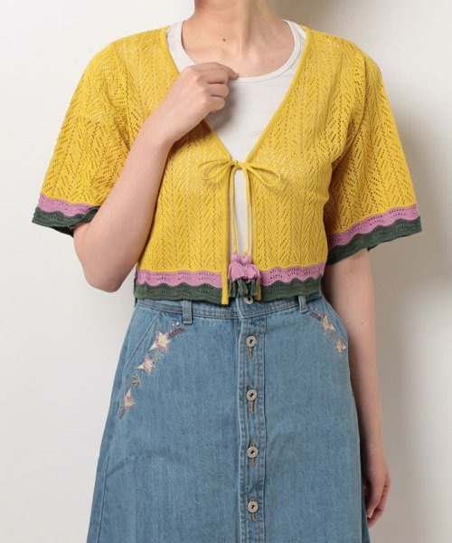 NICE CLAUP OUTLET(ナイスクラップ アウトレット)/【natural couture】配色スカラップボレロ/358830430_img05