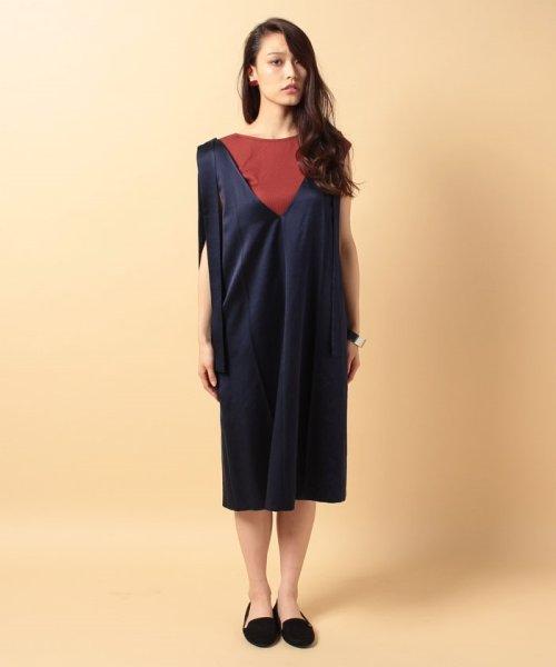 beautiful people(ビューティフルピープル)/s/w satin sffold dress/1745104007_img01
