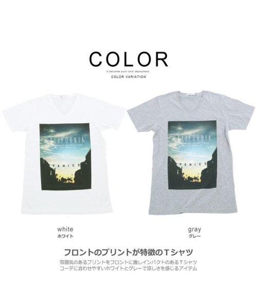 improves(インプローブス)/半袖VネックプリントTシャツ/99011_img02