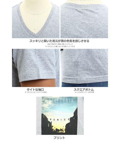 improves(インプローブス)/半袖VネックプリントTシャツ/99011_img04