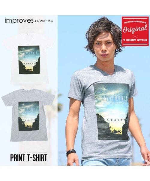 improves(インプローブス)/半袖VネックプリントTシャツ/99011_img10