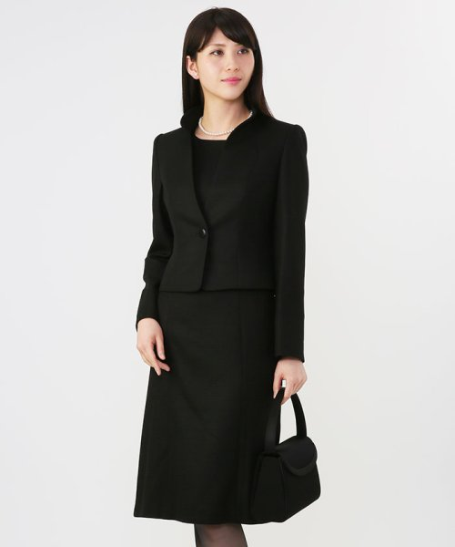 form forma(フォルムフォルマ)/【ワンピース前開き仕様・勝山織】スタンドカラーブラックフォーマルスーツ/0603656_img16