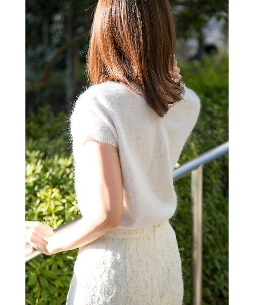 PROPORTION BODY DRESSING(プロポーション ボディドレッシング)/★バックレースアンゴラ半袖ニット/1217270915_img09