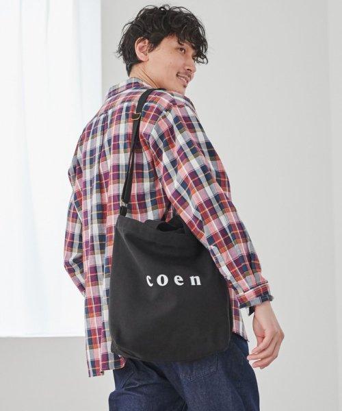 coen(コーエン)/【2017FW新色登場】coen2WAYロゴトートバッグ/76816027007_img08