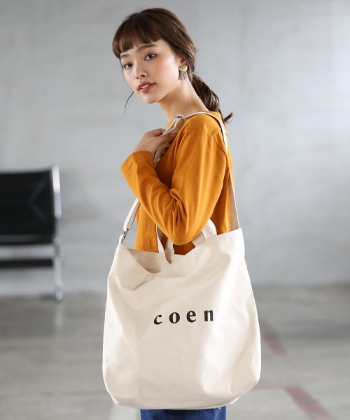 coen(コーエン)/【2017FW新色登場】coen2WAYロゴトートバッグ/76816027007_img10