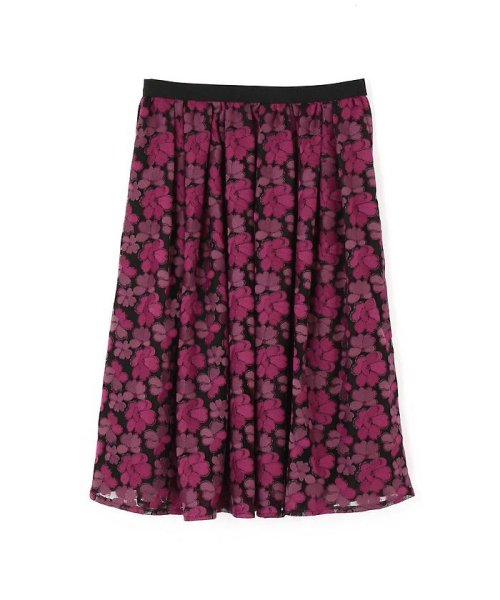 NATURAL BEAUTY(ナチュラル ビューティー)/チュール刺繍スカート/0187220014_img01