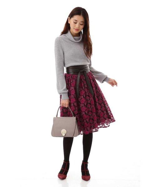NATURAL BEAUTY(ナチュラル ビューティー)/チュール刺繍スカート/0187220014_img02