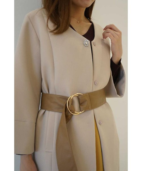 PROPORTION BODY DRESSING(プロポーション ボディドレッシング)/ビジュー付きVカラーコート/1217252901_img02