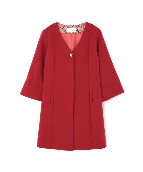 PROPORTION BODY DRESSING(プロポーション ボディドレッシング)/ビジュー付きVカラーコート/1217252901_img06