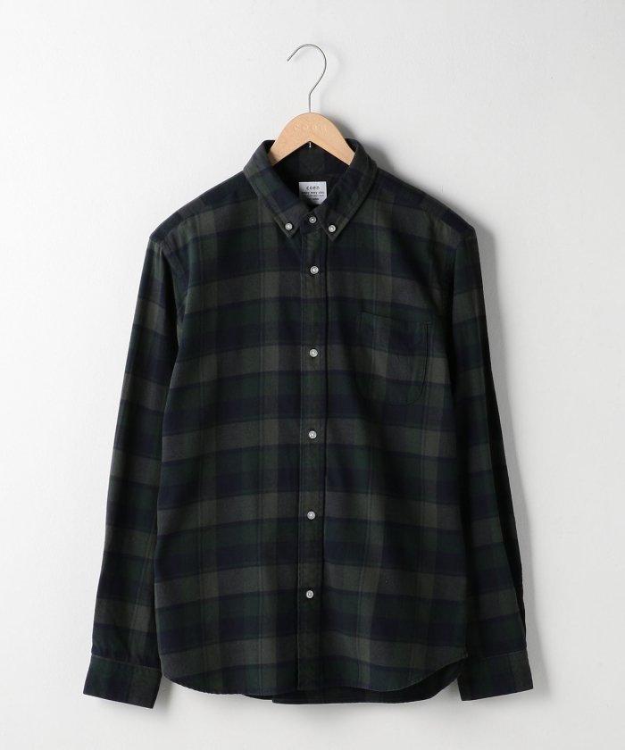 リネンではないオーソドックスなネルシャツもあります