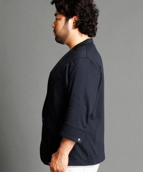 HIDEAWAYS NICOLE L(ハイダウェイニコル(大きいサイズ))/7分袖テーラードジャケット/7404-9900_img02