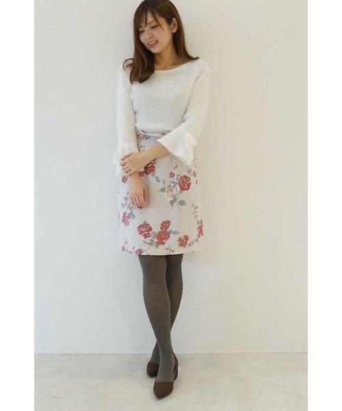 PROPORTION BODY DRESSING(プロポーション ボディドレッシング)/アンティークローズプリントスカート/1217220911_img02