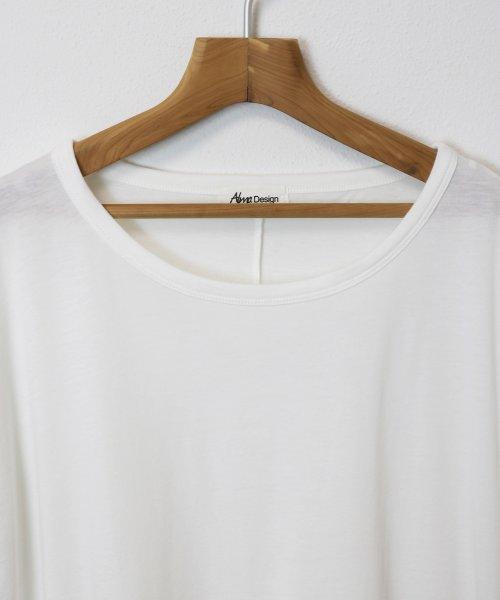 and Me...(アンドミー)/Tシャツ レディース 半袖 ビッグT ゆったり ロング丈 チュニック Uネック/6000442_img04