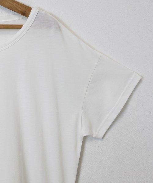 and Me...(アンドミー)/Tシャツ レディース 半袖 ビッグT ゆったり ロング丈 チュニック Uネック/6000442_img05