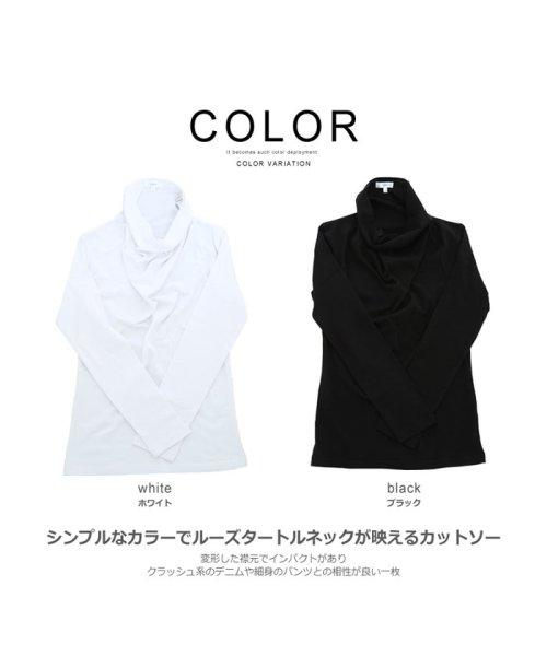 improves(インプローブス)/長袖スムースルーズタートルネックカットソー/99025_img02