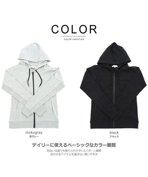 improves(インプローブス)/長袖スムースZIPパーカー/99027_img02