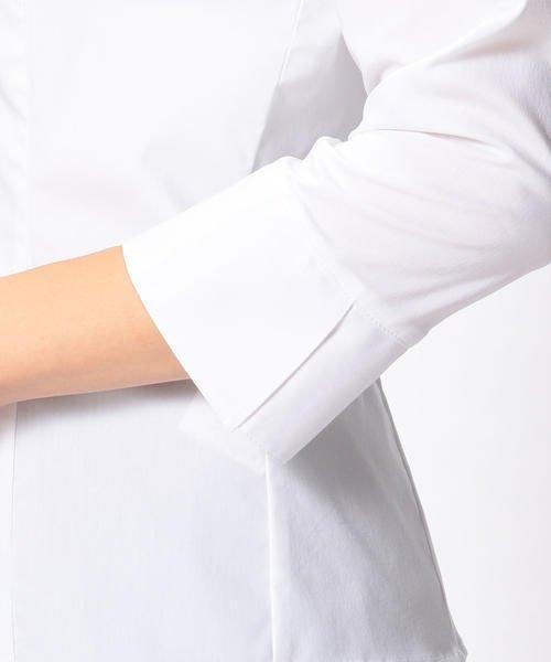 NARA CAMICIE(ナラカミーチェ)/ピエゴリーネスタンドカラー七分袖シャツ/107202015_img07