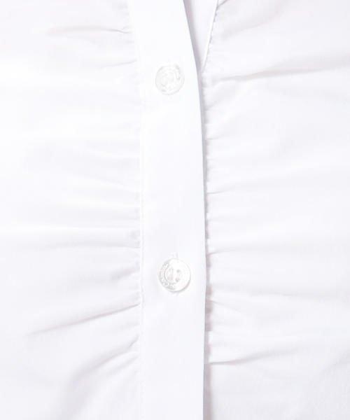 NARA CAMICIE(ナラカミーチェ)/ピエゴリーネスタンドカラー七分袖シャツ/107202015_img09