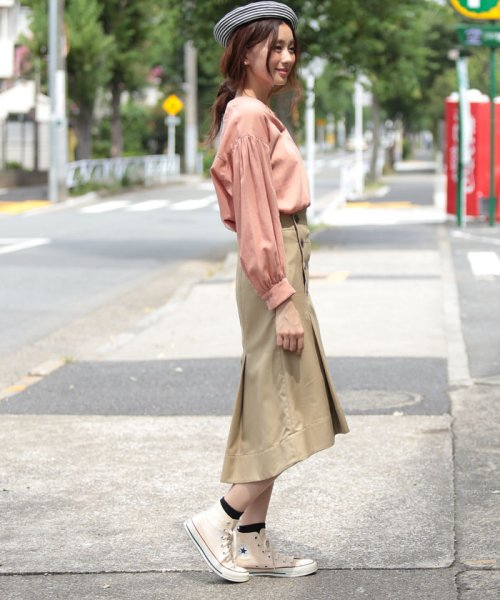 beautiful people(ビューティフルピープル)/ultimate pima twill trench tuck skirt/1725107001_img02