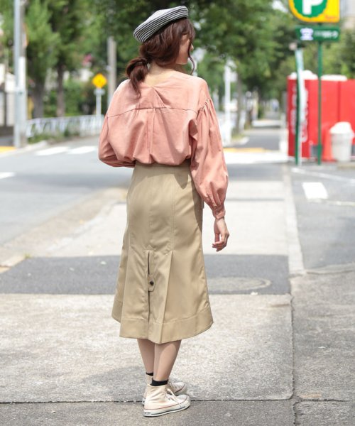 beautiful people(ビューティフルピープル)/ultimate pima twill trench tuck skirt/1725107001_img03