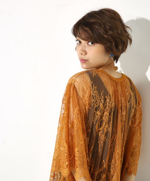 AZUL by moussy(アズールバイマウジー)/レース半袖プルオーバー/250AAW30J347_img06