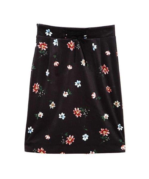 PROPORTION BODY DRESSING(プロポーション ボディドレッシング)/ベロアフラワープリントタイトスカート/1217220509_img03