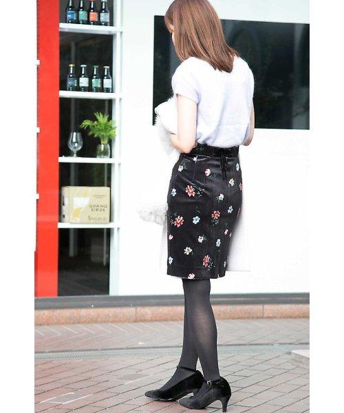 PROPORTION BODY DRESSING(プロポーション ボディドレッシング)/ベロアフラワープリントタイトスカート/1217220509_img08