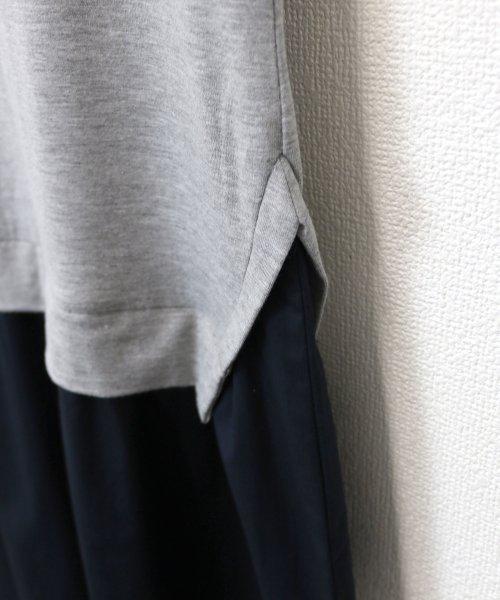 and Me...(アンドミー)/【J-1】Tシャツ ドッキング ワンピース カットソー ロングスカート/1000519_img04