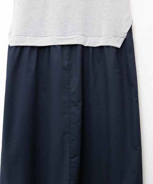 and Me...(アンドミー)/【J-1】Tシャツ ドッキング ワンピース カットソー ロングスカート/1000519_img06