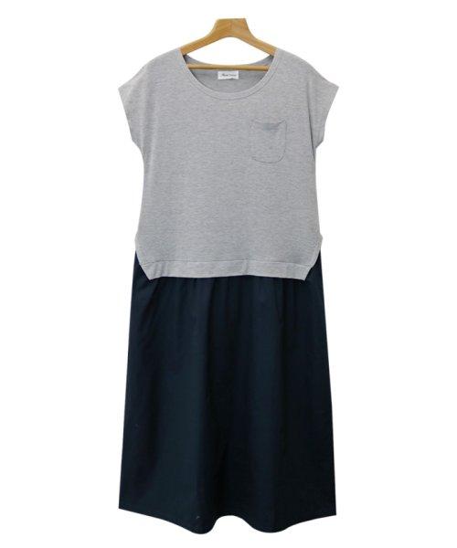 and Me...(アンドミー)/【J-1】Tシャツ ドッキング ワンピース カットソー ロングスカート/1000519_img13