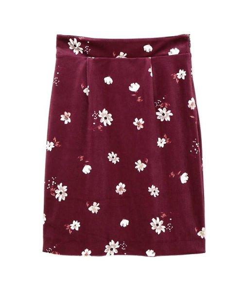 PROPORTION BODY DRESSING(プロポーション ボディドレッシング)/ベロアフラワープリントタイトスカート/1217220509_img10