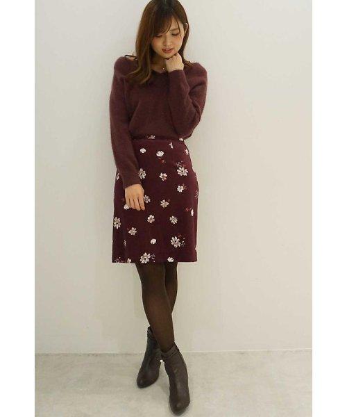PROPORTION BODY DRESSING(プロポーション ボディドレッシング)/ベロアフラワープリントタイトスカート/1217220509_img11