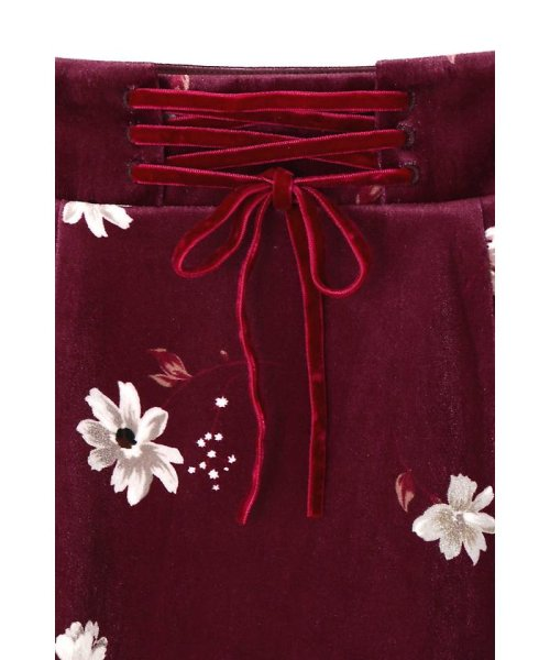 PROPORTION BODY DRESSING(プロポーション ボディドレッシング)/ベロアフラワープリントタイトスカート/1217220509_img13