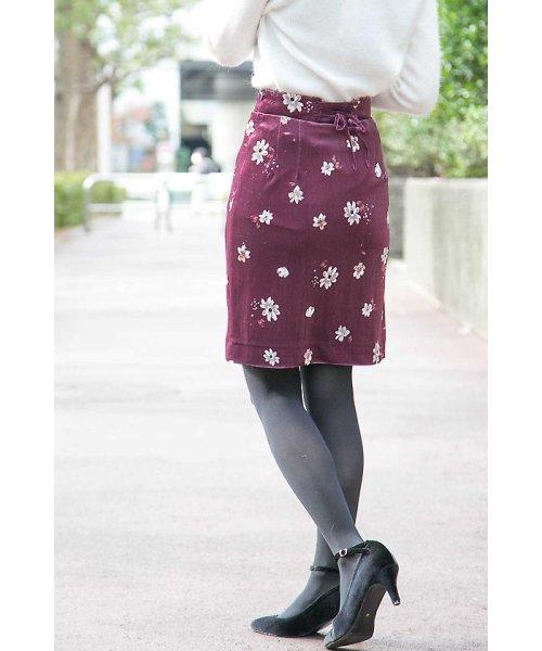 PROPORTION BODY DRESSING(プロポーション ボディドレッシング)/ベロアフラワープリントタイトスカート/1217220509_img16
