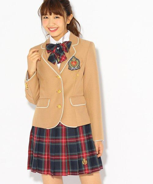 PINK-latte(ピンク ラテ)/【卒服】エンブレム付きパイピングジャケット/99990931941024_img01