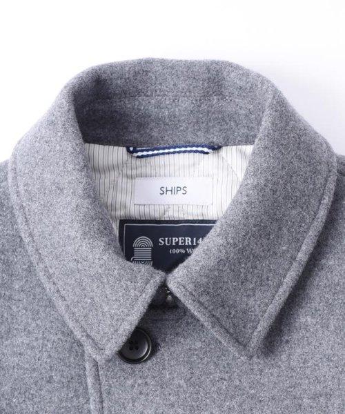 "SHIPS MEN(シップス メン)/SC: ""スーパー140'S"" メルトン シングル Pコート LG/114450061_img01"