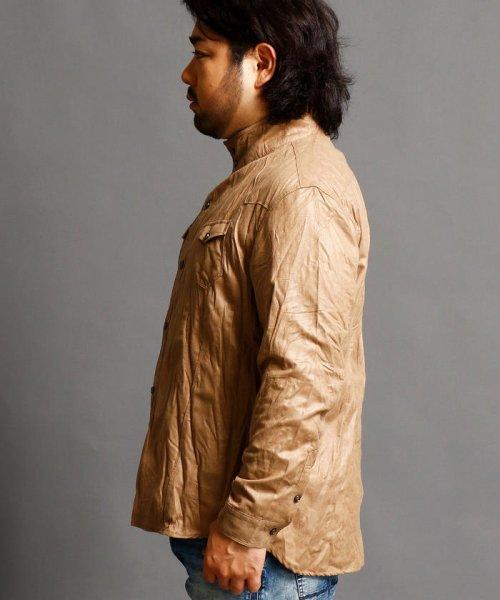 HIDEAWAYS NICOLE L(ハイダウェイニコル(大きいサイズ))/フェイクスウェードシャツ/7404-8003_img02